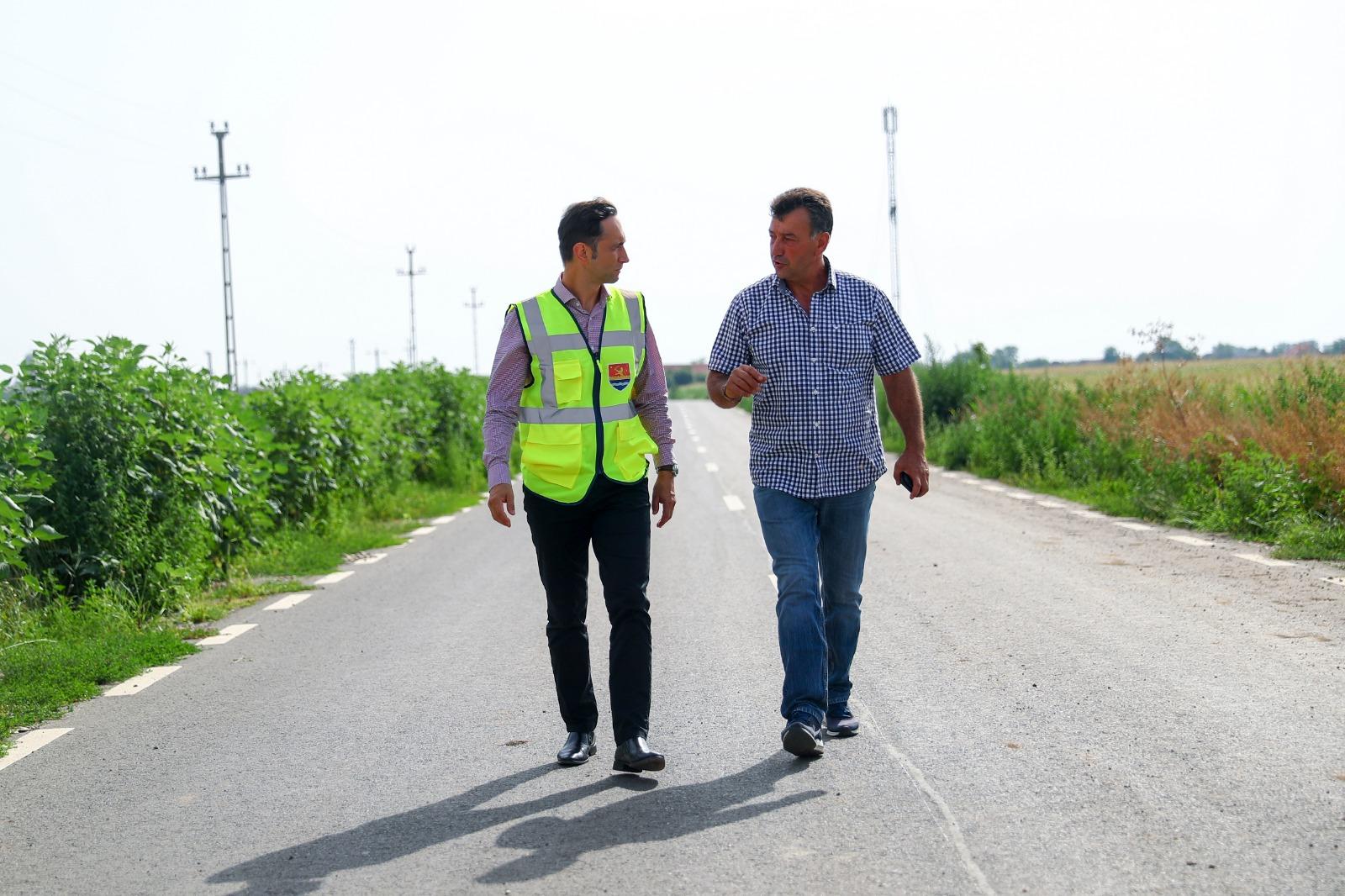 Investiție importantă pentru mii de timișeni, la final. Consiliul Județean a reabilitat drumul de legătură între Tomnatic și DN6