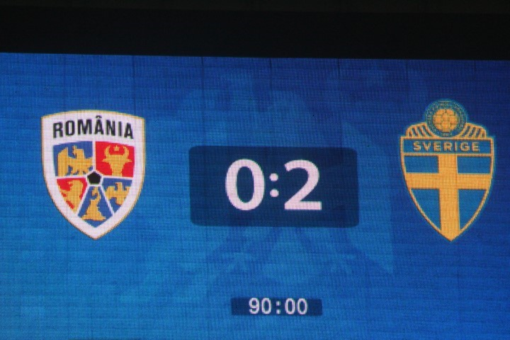 Romania-Suedia 0-2, dar mai avem o şansă de calificare la EURO 2020